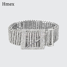 Fashion luxury womens Shiny wide Belts Waist Chain full rhinestone Crystal Diamond metal bling bride Waistband accessories