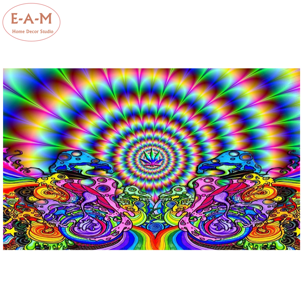 Psychedelic Trippy Abstract Art Silk Poster Print 13x18 24x32 inch 042