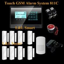 Автоматическая Сигнализация Беспроводная GSM SMS Сенсорной Клавиатурой Главная Дом Сигнализация Высокое Качество Меню Экран