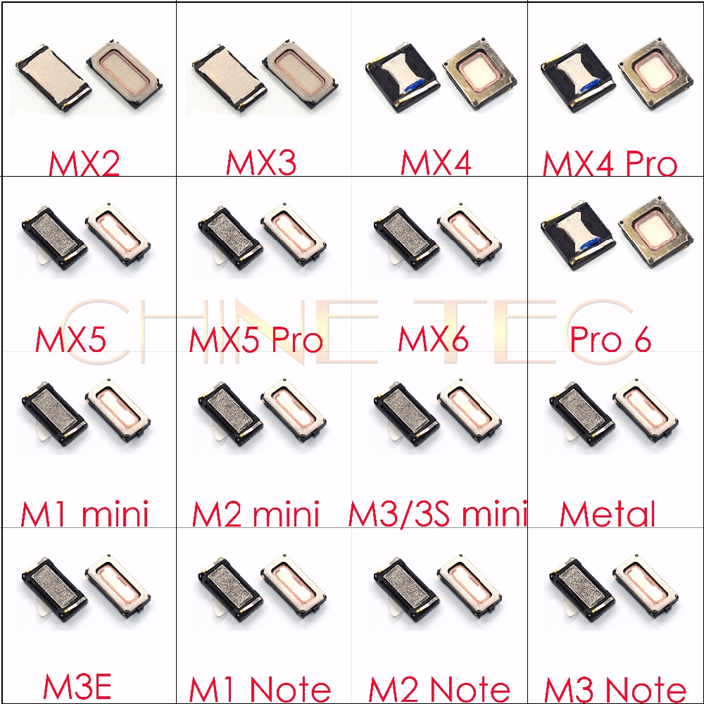 2x Earpiece Speaker Receiver For Meizu MX3 MX4 MX5 MX6 Pro6 Pro7 Plus M1 M2 M3 M3S M5 M5C M5S M6 Note U10 U20 Metal M3E E2 E3 A1