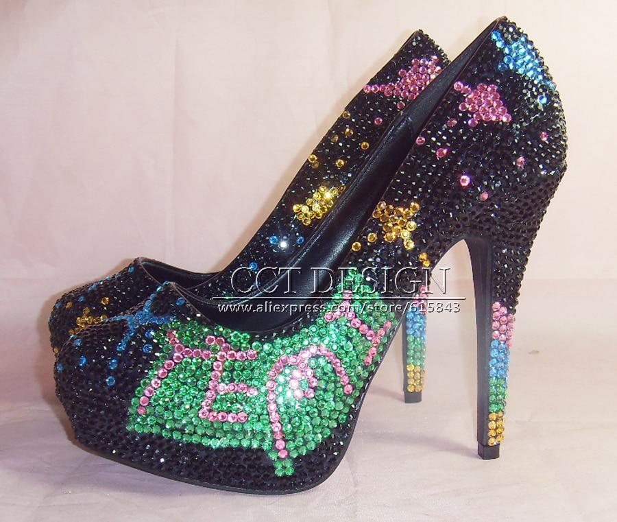 Glitter Gorgeous Black Wedding Bridal Evening Party rhinestone High Heels Women Shoes Sexy Woman Pumps Fashion Bridal Shoes