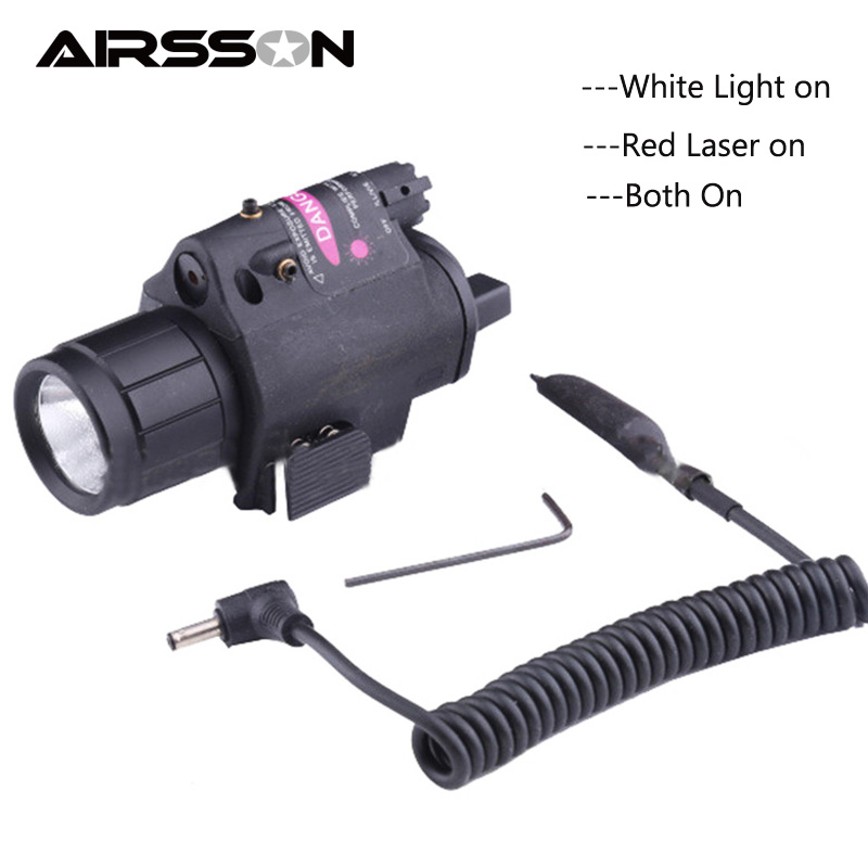 LED Gun Mount Flashlight Tactical Weapon flashlight Three Lights Mode Hunting Flash Light Torch Lamp Gun Accessories With Switch led xm l2 flashlight 8000lumens tactical flashlight hunting flash light torch lamp 18650 battery charger gun mount