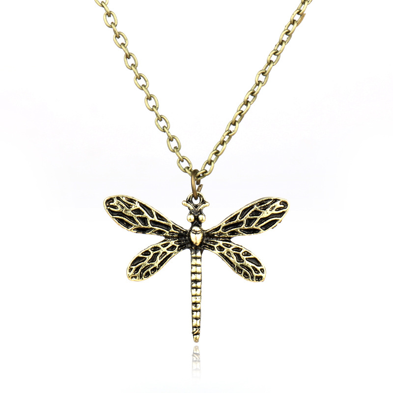 MQCHUN Game Of Thrones Necklace Song Of Ice And Fire Sansa Stark Vintage Dragonfly Pendant Necklace For Women Gift-30