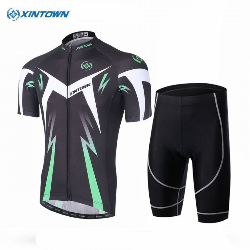 XINTOWN New Mens Cycling Jerseys Sets Ropa Ciclismo Cycle Clothes Bike Jerseys Suits Bike Bicycle Sports Clothing