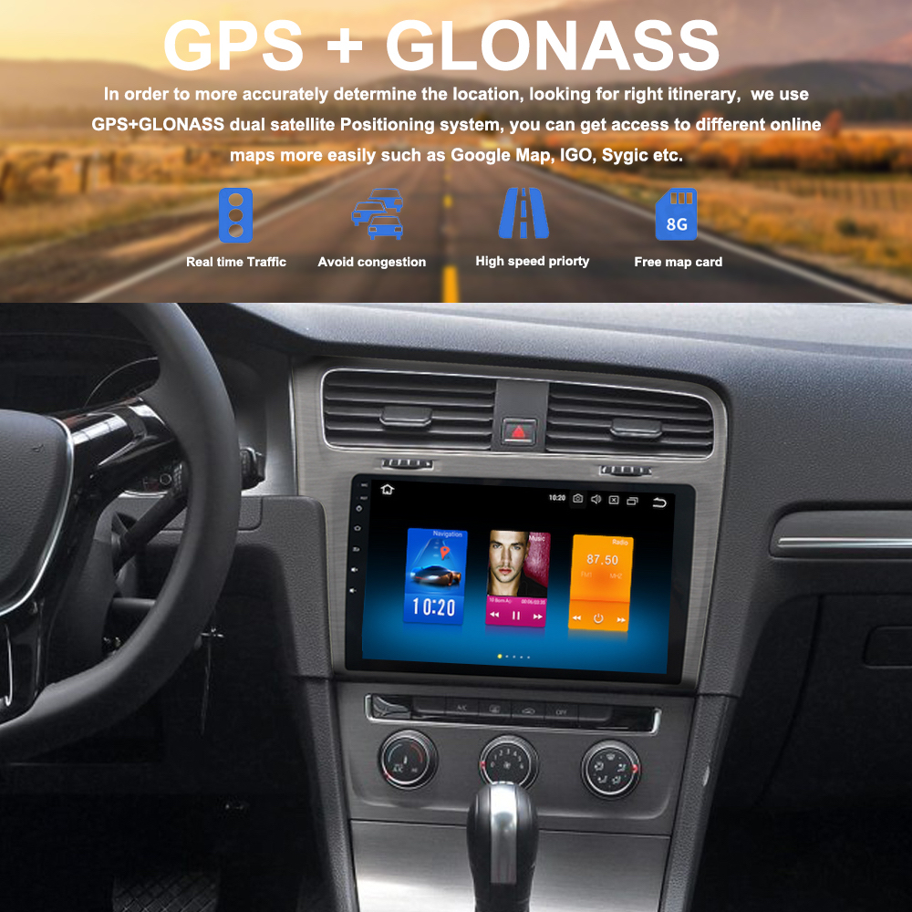 10 2 IPS Android 8 0 Car Radio GPS for VW Golf 7 Multimedia 2013 2014