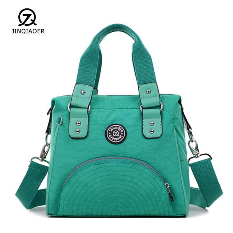 JINQIAOER New Women Casual Handbag Waterproof Nylon Shoulder Bags Ladies Totes Brand Design Crossbody Messenger Bag Female Bolsa 2017 new brand waterproof nylon crossbody bags for women quality style fashion design shoulder bag multi purpose bag