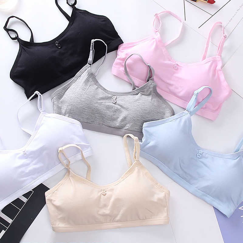 Teenage Girl Bra Seamless Bralette Full Cup Cotton Underwear Sleep Bra Tube Top Women Lingerie Female Intimates Push Up