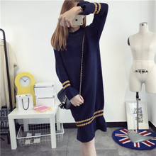 South Korea long sweater female turtleneck wool skirt lady winter coat, L38 wind bottoming sweaters