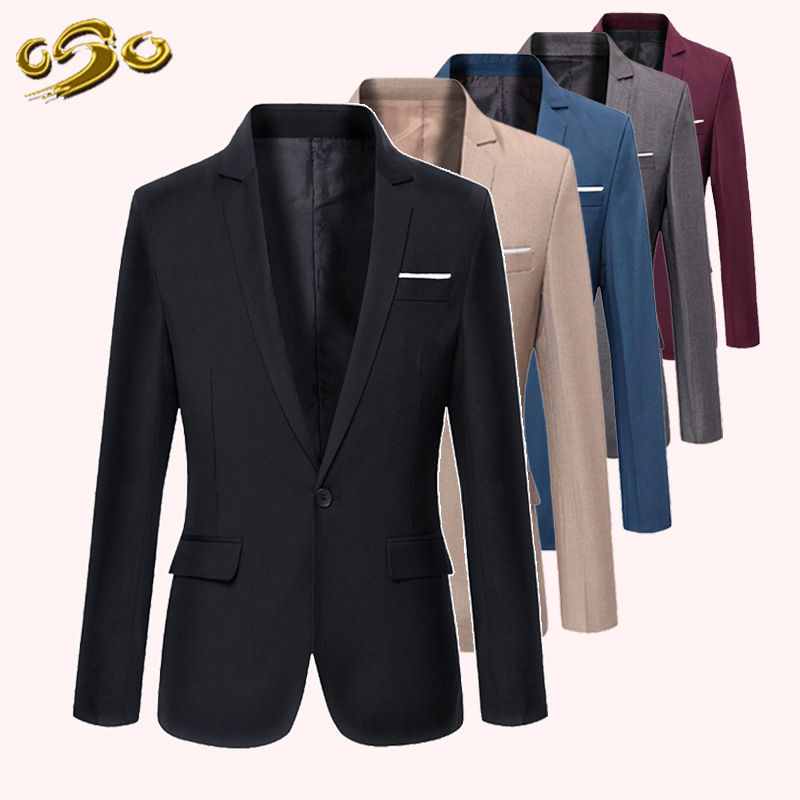 Men 39 s Business Casual Suits Blazer Solid Color Single Button Slim Suit Men Wedding Suit Male Formal Party Classic Men Clothing in Blazers from Men 39 s Clothing