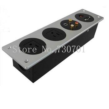 2019 New Aluminum Panel Socket with Universal power and USB Charger hotel wall socket box/table socket 70 pcs