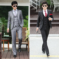 Freeshipping Luxo elegante bloco de cor chaldean calças blazer colete masculino set no. nuo65x2x7x200