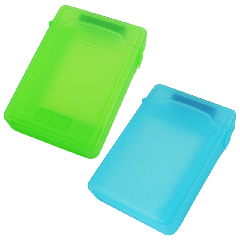 2 PCS 3.5 Inch Storage Box IDE / SATA HDD (Blue & Green)|Battery Storage Boxes| |  - title=