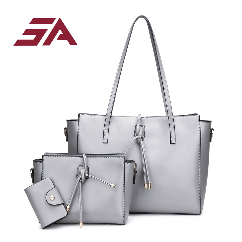 SA Brand 3 sets Women Handbag Designer High Quality Tote Bag female large capacity tote bag shoulder crossbody bag small card hot sale 2016 new fashion women girls winter warm wallet high quality tote bag card pack small hairy bag handbag