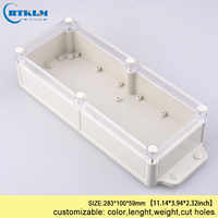 Wall mounting waterproof junction box plastic box electronics diy abs plastic enclosure electronic project box 283*100*59mm IP68