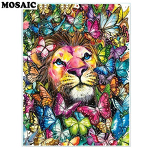 30x40 Diamond Painting colorful lion Full Drill Square/Round Embroidery Animal Kits Handmade butterfly Room Decoration