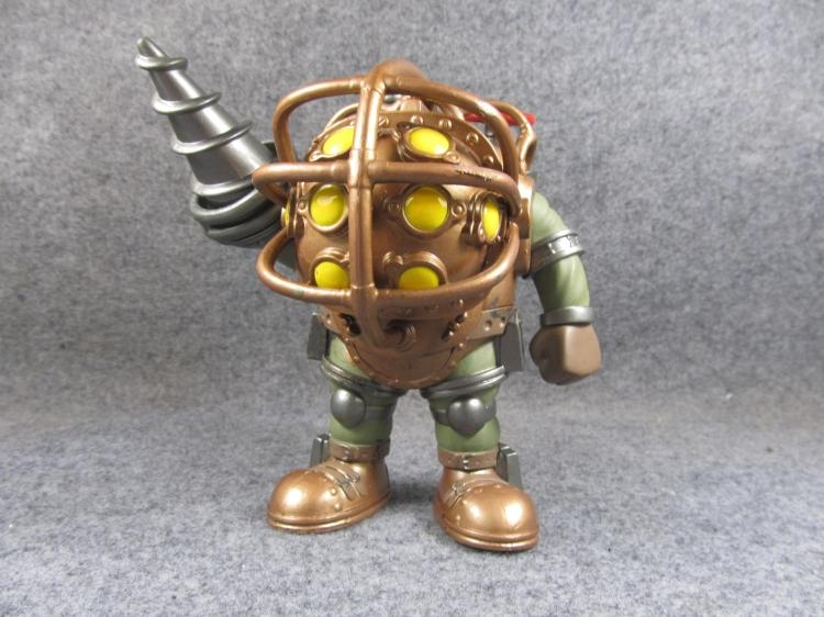 Exclusive Funko POP 6'' Secondhand Bioshock - Big Daddy Vinyl Action Figure Collectible Model Loose Toy No Box Cheap funko pop games illidan 14 pvc action figure collectible model toy 4 10cm kt2242