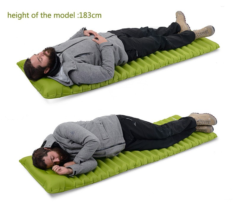 Naturehike Ultralight Outdoor Air Mattress Moistureproof Inflatable Air Mat With TPU Camping Bed Tent Camping Mat Sleeping Pad