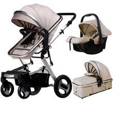 Детская коляска 3 в 1, детская коляска с высоким пейзажем, Роскошная детская коляска, детская коляска для 0-36 месяцев, детская коляска