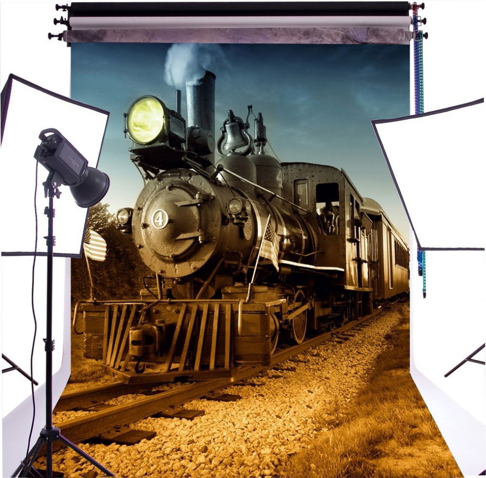 Capisco Photo background Railway train stones photography backdrops Seamless for Children photography backdrop