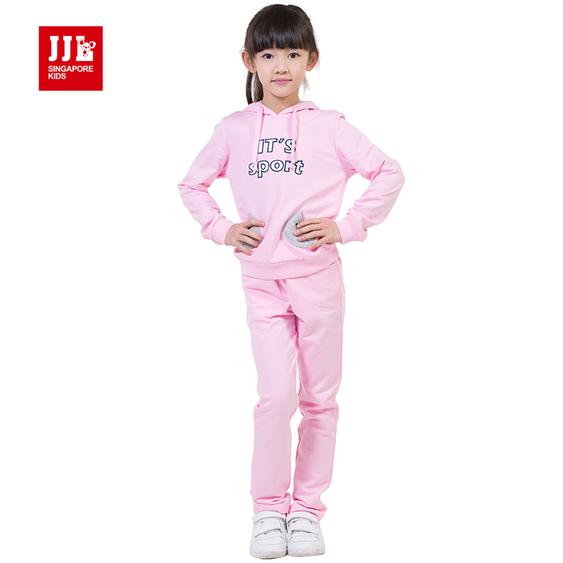 ФОТО girls suits leisure letter print size 4-11 years 100% cotton 2014 new arrvial children clothing 2015 new
