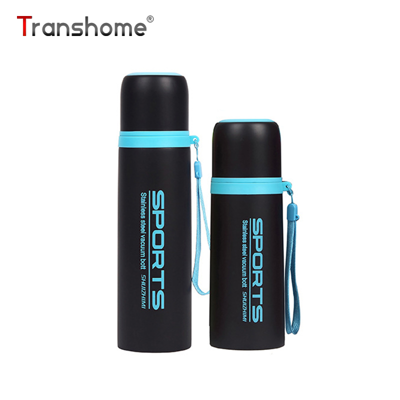 Transhome Thermos Tasse 300 ml 500 ml En Acier Inoxydable Fiole À Vide Thermos Bouteille Pour Sport De Thé Écologique Automobile Café Tasses