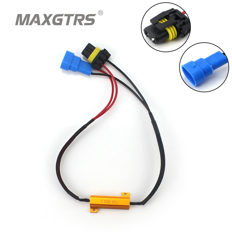 2007-Current RAM JEEP CHRYSLER Mini Cooper BMW BENZ/… Win Power H13 HID LED Load Resistor 2pcs Canbus Harness Decoder-Fix LED Bulb Fast Hyper Flash for Dodge