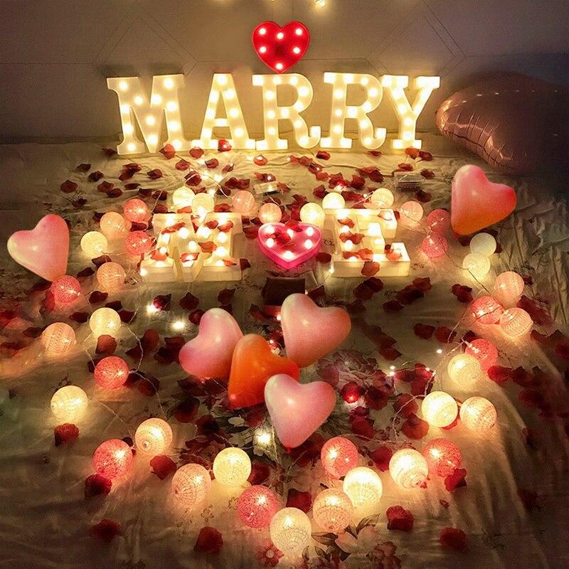 CALOFE 1 шт. белый DIY светодиодный письмо символ знак сердце освещения Винтаж Пластик светодиодный свет Свадьба День святого Валентина Вечерни...