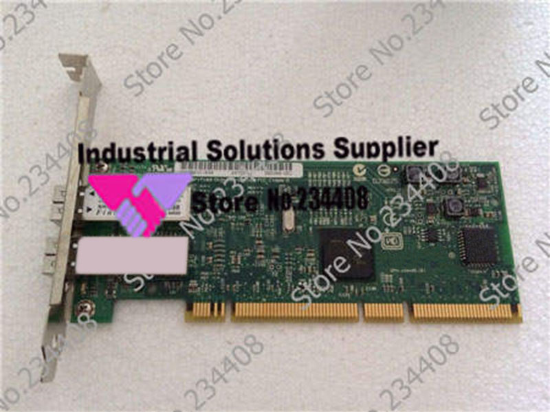 цена на 5707 10N8587 1000M PCI-X dual port Gigabit Ethernet card fiber minicomputer 100% tested perfect quality