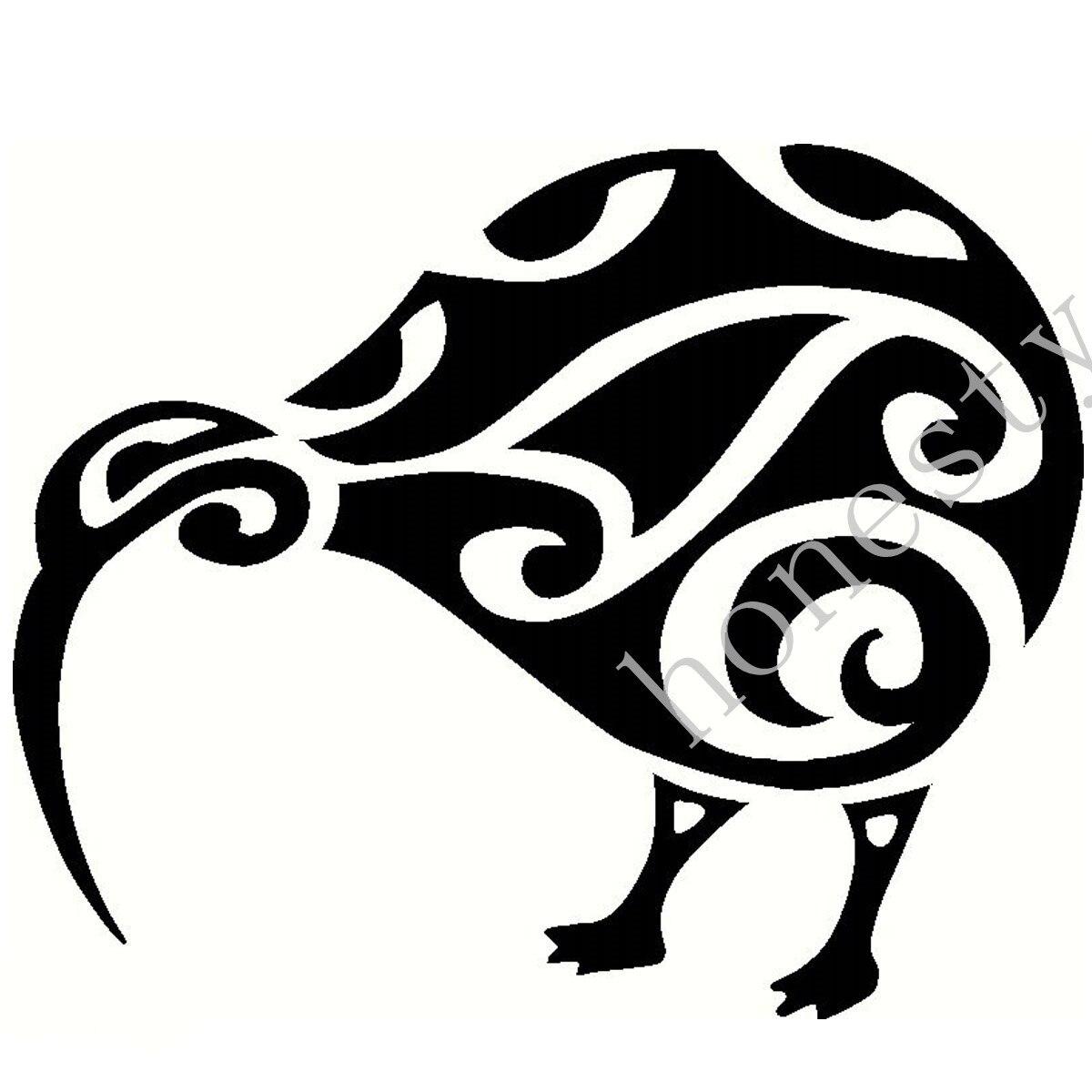 NEW ZEALAND KIWI BIRD CAR WALL HOME WINDOW GLASS VINYL