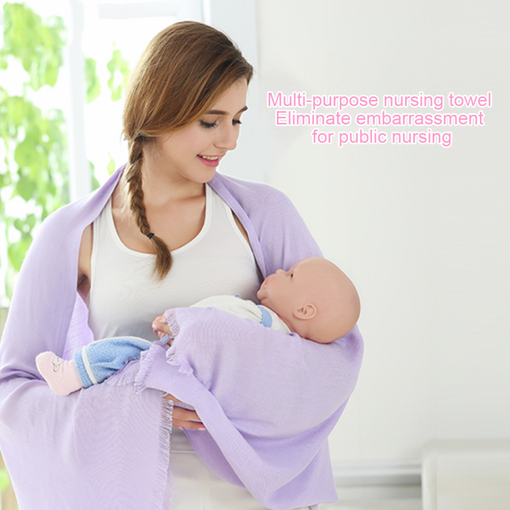 180*80 Cotton Breastfeeding Cover Nursing Covers Shawl Breast Feeding Covers Flower Printed Nursing Cloth for Feeding Baby