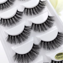 5 pairs 3d mink lashes false eyelashes natural long lash 3d mink lashes handmade fake false eyelash