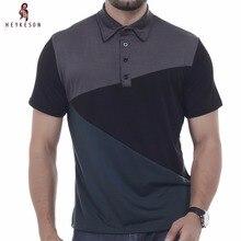ФОТО brand 2017 fashion male lapel polo shirt man short sleeve slim slim polo men xxxl dd02