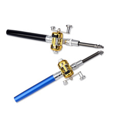 Mini Portable pen fishing rod Aluminum alloy color ice Children gifts Pocket Spinning Bait Casting Rod