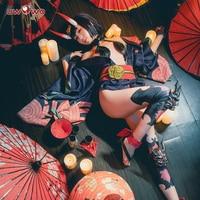 UWOWO Fate Grand Order Shuten-douji Аниме Косплей Костюм ассасин женский костюм униформа полный комплект косплей костюм