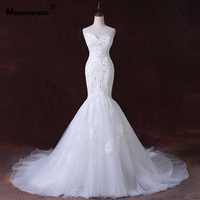 MANYUNFANG Sweetheart Neck Abiti Da Sposa Tiered Style Hochzeitskleid Sexy Mermaid Wedding Dress Court Train Beads Weding Dress