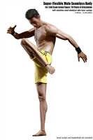 Tbleague M36A 1/6 hombre súper Flexible cuerpo sin costuras piel bronceada con esqueleto de acero inoxidable sin cabeza esculpir F 12 ''figura