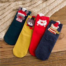 Dazi 2019 New High Quality Women Socks Cute Cartoon Christmas Autumn Comfortable Cotton Warm For Girl Gift