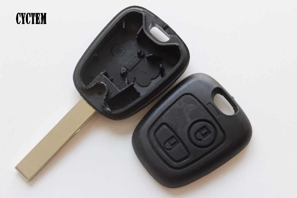 CYCTEM 2 przyciski zdalny klucz składany Shell nadające się do Peugeot 307 surowe kluczyki samochodowe Fob skrzynki pokrywa HU83 ostrze