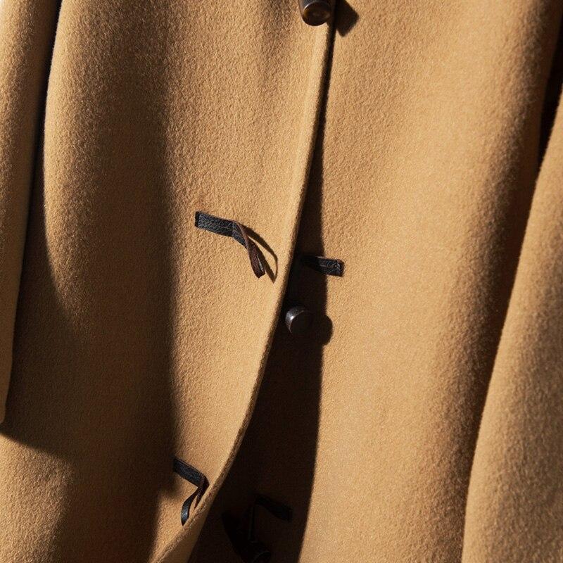 Femelle Hiver Longue Doux Femmes face Solide Qualité Laine Mode Tissu Manteau Nouvelles Cachemire Kaki Épais Double Lhzsyy De Haute w6d4TBwq