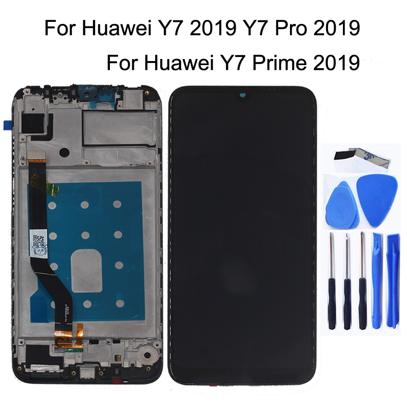 """Original 6.3"""" for Huawei Y7 Pro 2019 LCD monitor replacement for Huawei Y7 2019 DUB LX2 DUB L22 mobile phone repair parts+Tools-in Mobile Phone LCD Screens from Cellphones & Telecommunications"""