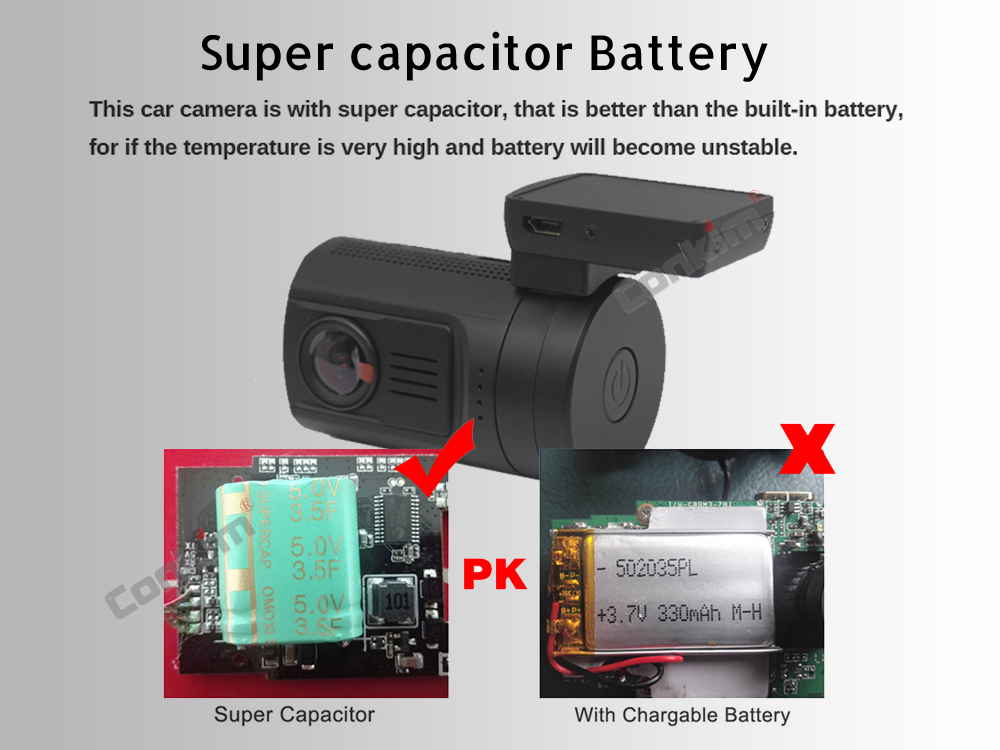 Conkim Mini 0906 Two Camera GPS Car DVR Registrar 1080P Full HD Rear View Camera Capacitor Dual Lens DVR Parking Guard Sensor 9