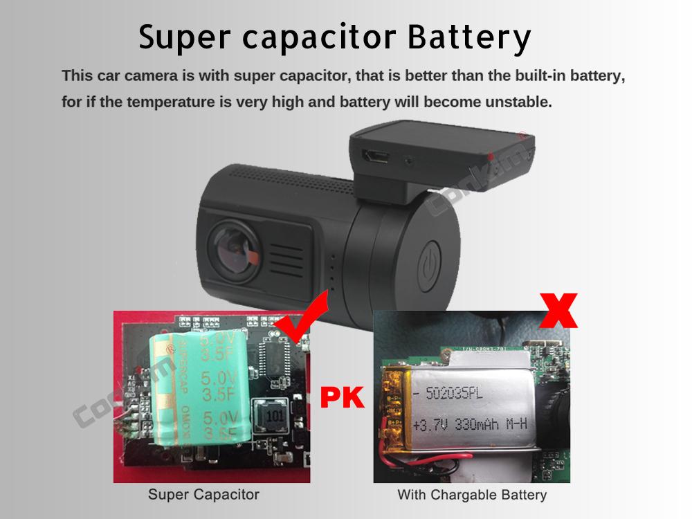 Conkim Dual Lens Car Dash Camera GPS DVR Front 1080P FHD+Rear Camera 1080P FHD Parking Guard Motion Detect Mini 0906 Novatek Cam 8