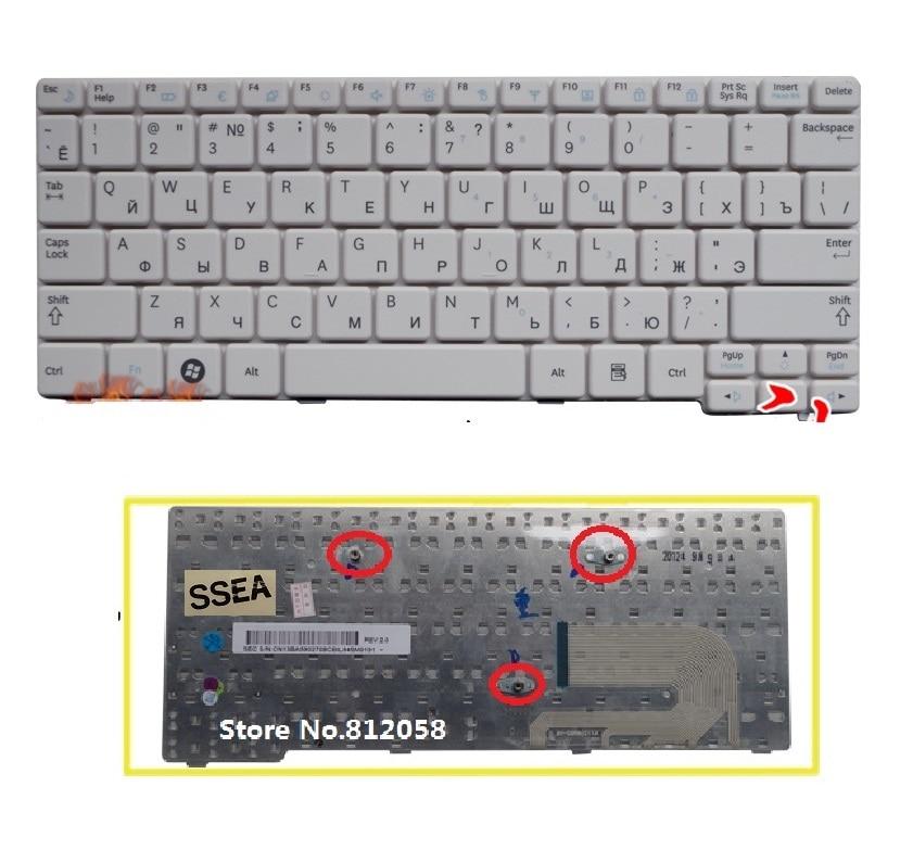 Laptop Keyboard for Samsung N100 N100S N100SP Russia RU White