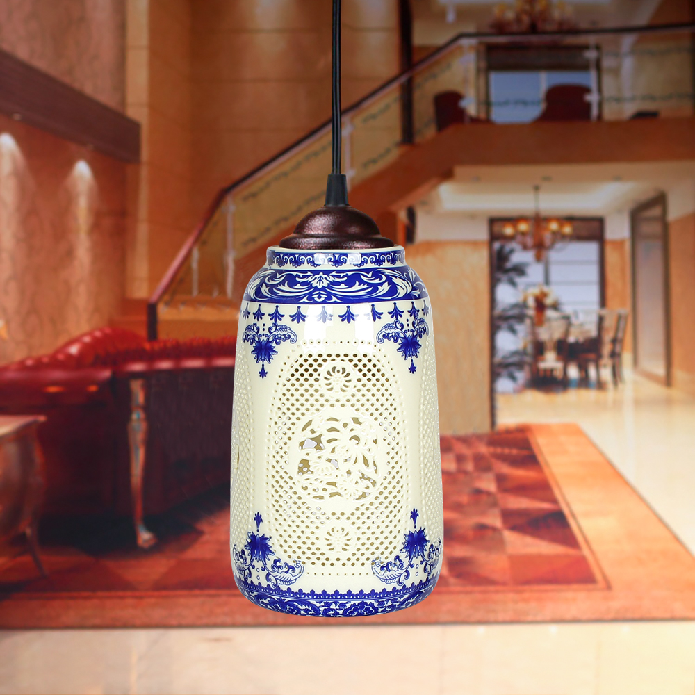 Led ceramic chandelierchinese style lamps and lanterns ceramic led ceramic chandelierchinese style lamps and lanterns ceramic bar balcony chandelier vestibule chandelier in pendant lights from lights lighting on arubaitofo Choice Image