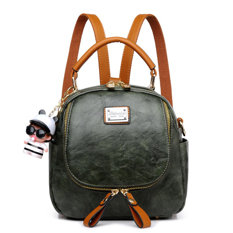 Vintage PU Leather Mini Backpack Women Travel Portable Softback Bag Gril Cute School Bags High Quality Femail Small Backpacks 2017 small vintage navy blue deinm backpack with cover high quality women daily backpacks for travel 2colors casual jeans bag