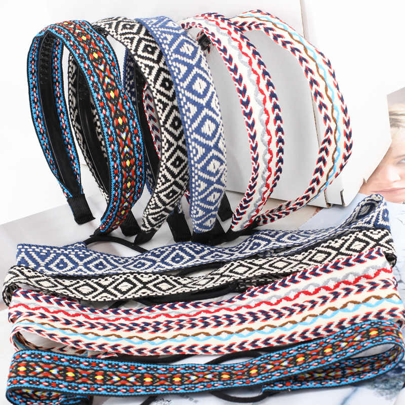 Ethnic Retro Bohemia Braided Hairband Women Girls Hair Head Bands Hoop Headband Accessories For Women Hair Scrunchy Headdress