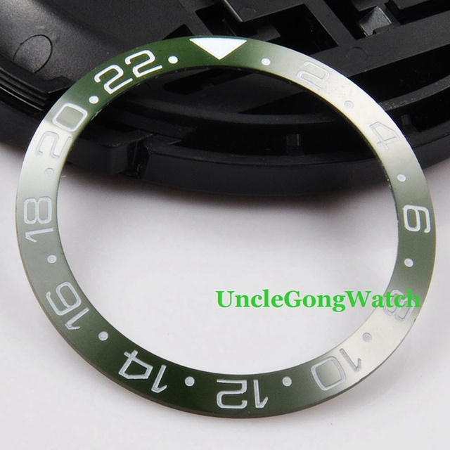 Watch Parts, Corgeut 38mm Green Ceramical Bezel Fit for 40mm SEA Automatic Watches , Timepiece Insert for DIY Clocks BZ38SEAGN