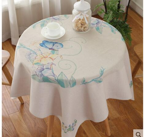 Literature and art small fresh cloth cotton and linen style cloth tablecloth round table square table cloth table cloth dust tab ...
