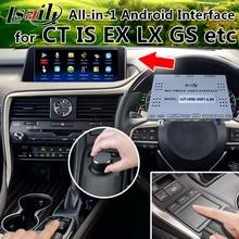 Все-в-1 Plug & Play Android интерфейс gps навигационная коробка для 2017-2010 Lexus NX RX ES CT с LVDS выходом, Mirrorlink, 2USB
