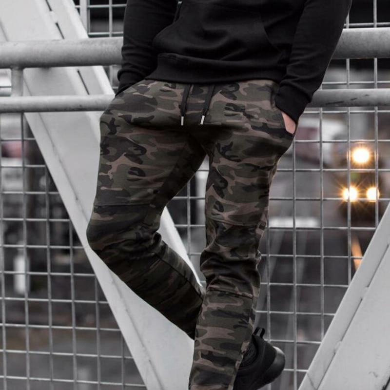 Comprar 2018 nuevos pantalones de invierno de la aptitud de los hombres  casuales de camuflaje Slim pantalones de chándal de moda Midweight  Streetwear ... fa72e2d2edc